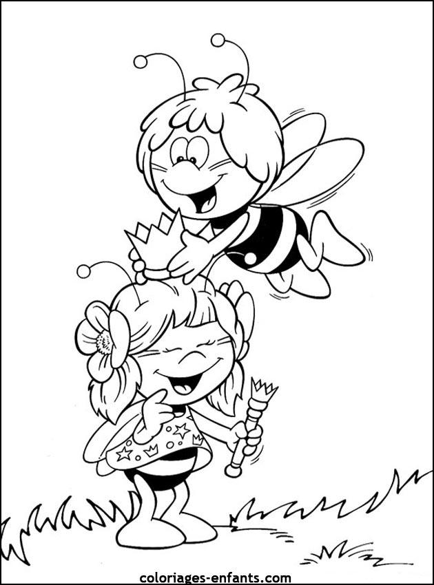 Jeux et coloriages d 39 abeilles imprimer - Coloriage heidi ...