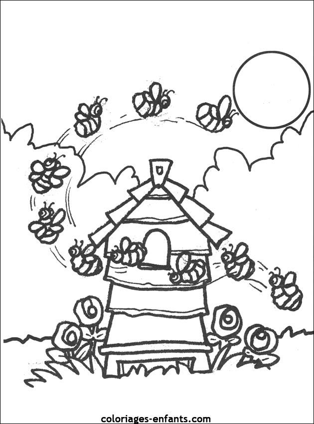 Favori Jeux et coloriages d'abeilles à imprimer OP09