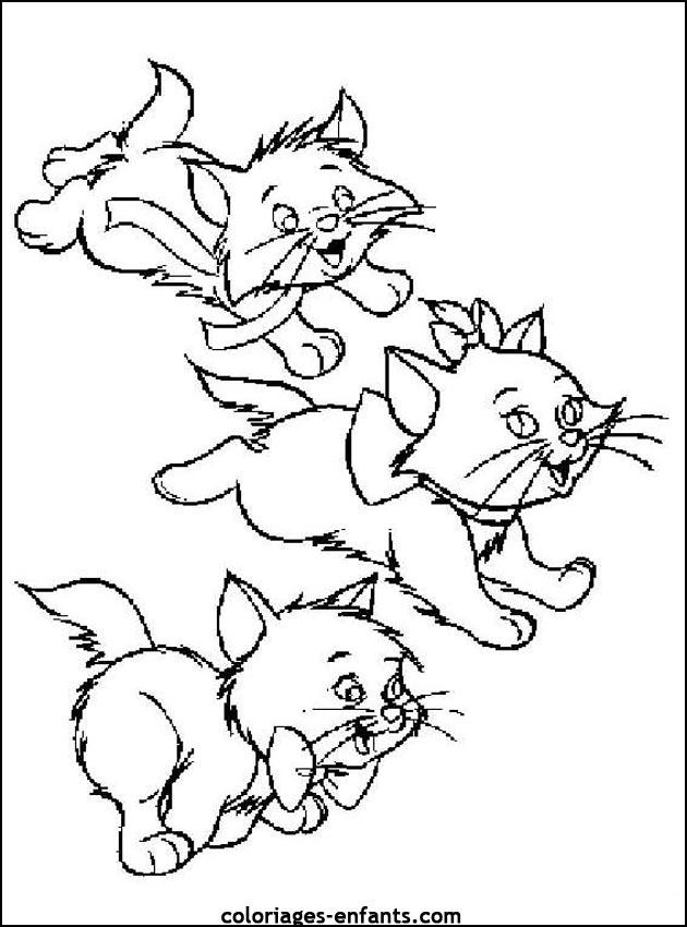 dessin de chat mignon les fille nues