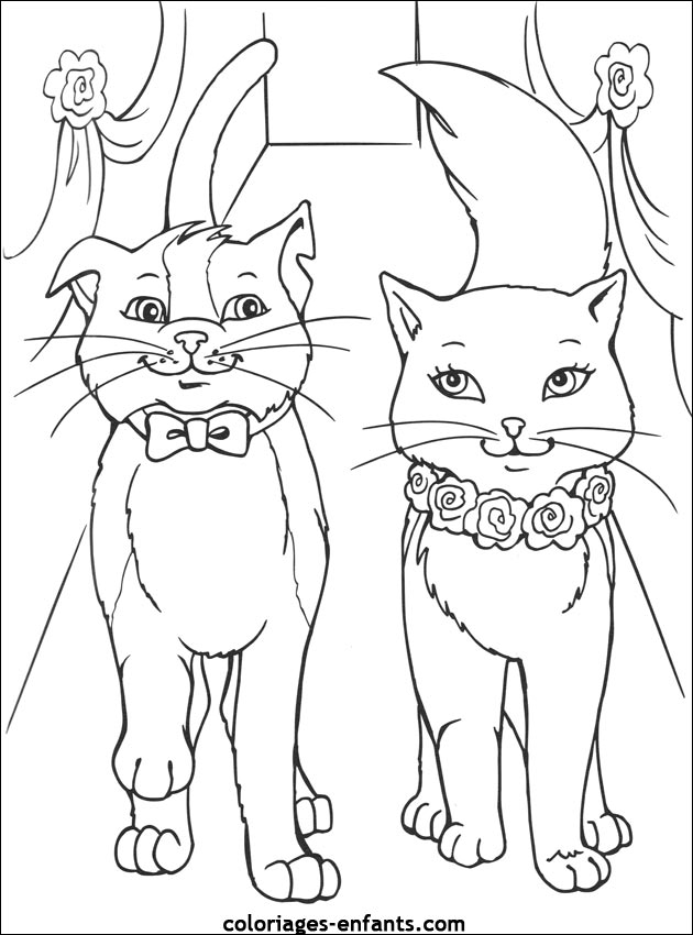 Princess Kitten Coloring Pages : Princess cat coloring pages