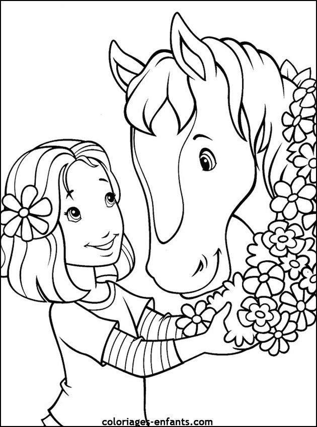 Coloriage de cheval imprimer - Course de chevaux table de multiplication ...