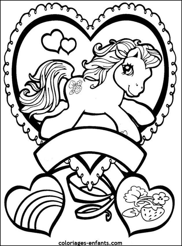 coloriages de chevaux pour enfants - Coloriage De Cheval