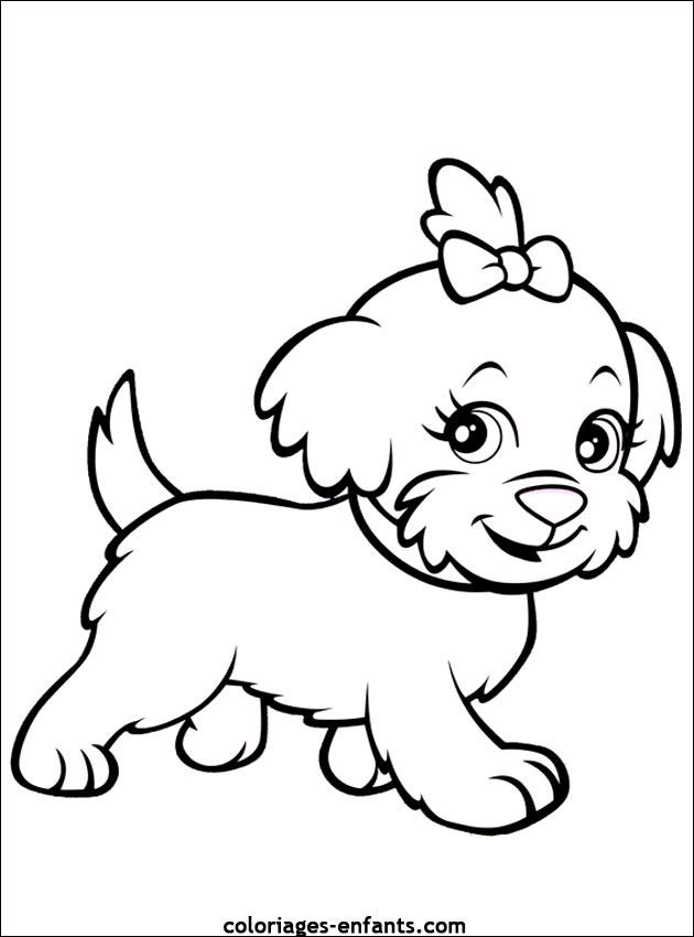 Coloriage de chiens à imprimer