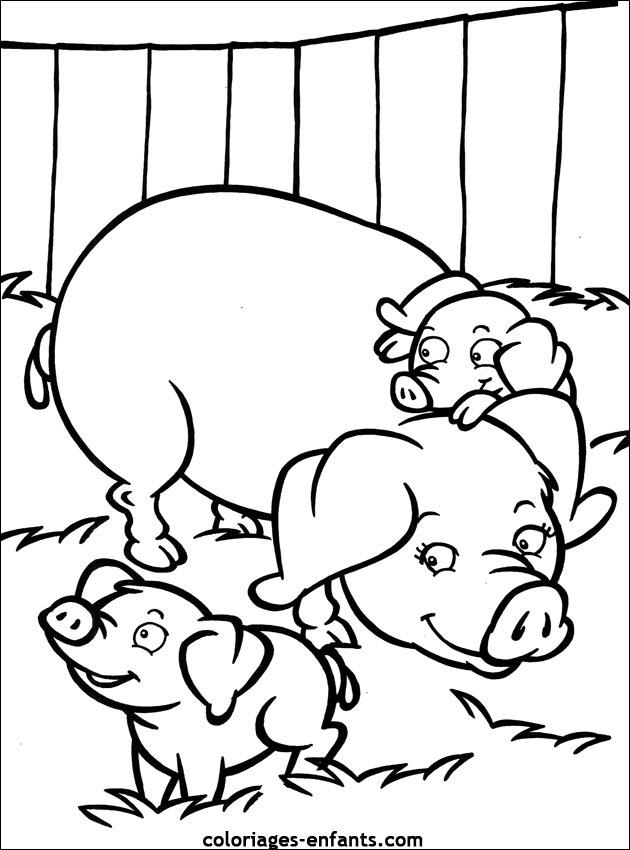 Coloriages De Cochons A Imprimer Pour Enfants