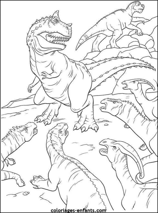 Coloriages de dinosaures - Dessin de dinosaure a imprimer ...
