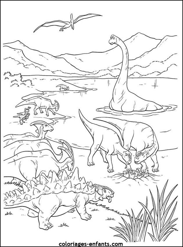 coloriage de dinosaure - Dinosaure Colorier