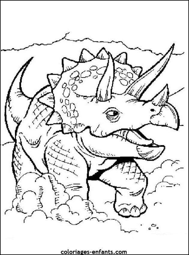 Coloriages de dinosaures - Modele dessin dinosaure ...
