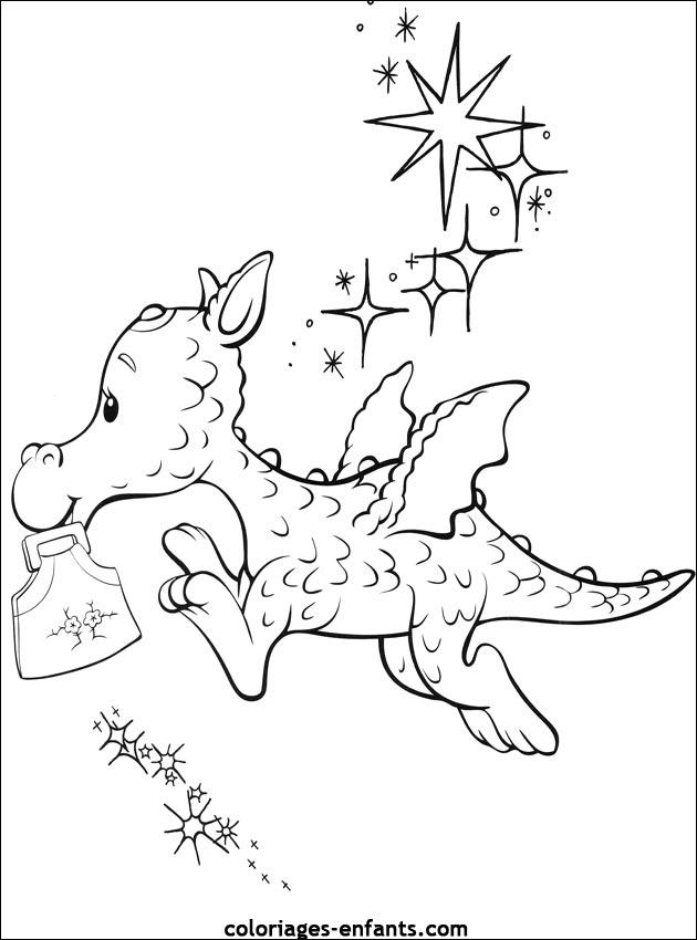 Dragon a colorier - Coloriages dragon ...