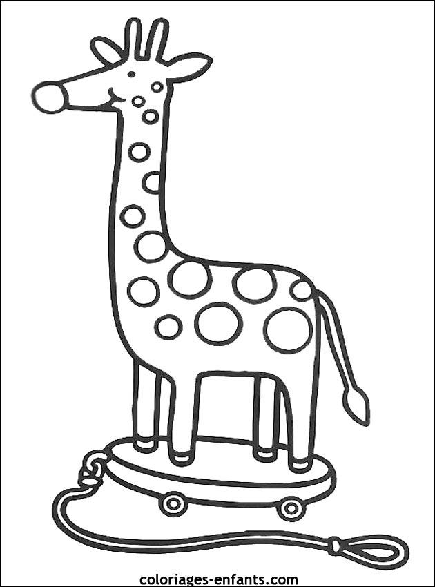 Coloriage de girafes de la rubrique animaux imprimer de coloriages enfants - Coloriage de girafe ...