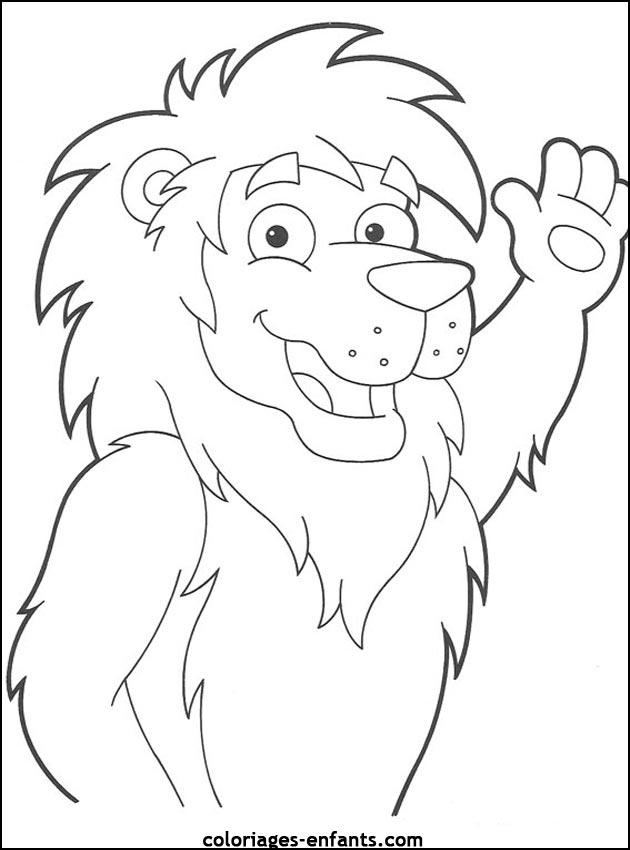 Coloriage De Lion A Imprimer Sur Coloriages Enfants