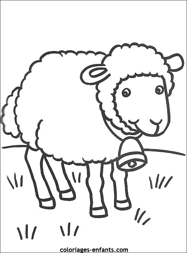 Célèbre Coloriage de moutons à imprimer sur coloriages - enfants XL12