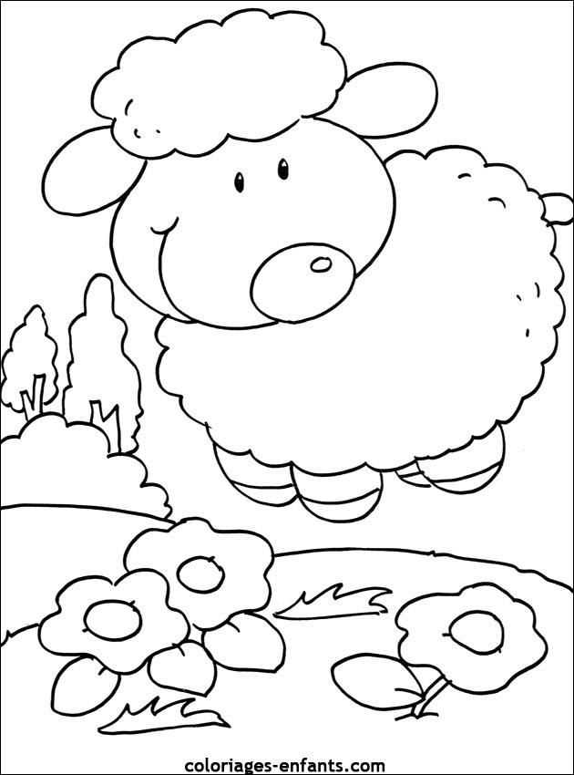 Coloriage de moutons imprimer sur coloriages enfants - Colorage enfant ...