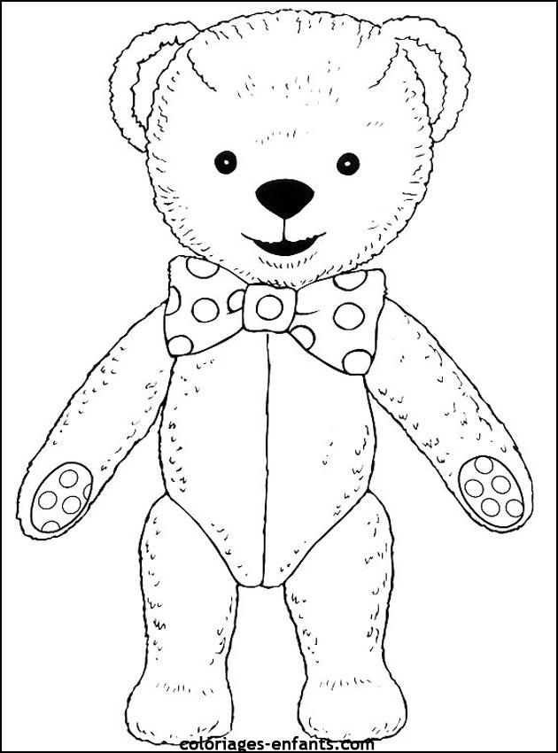Coloriage d 39 ours de la rubrique animaux imprimer de coloriages enfants - Comment dessiner un ours ...
