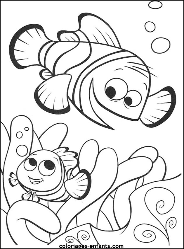 Célèbre Coloriage de poissons à imprimer de coloriages - enfants GJ85