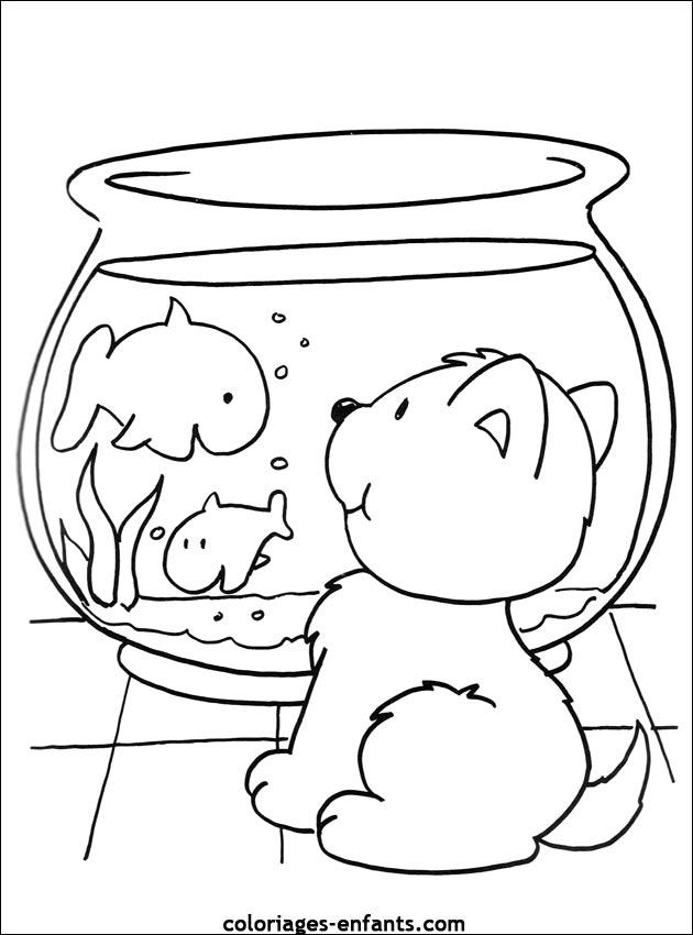 Coloriage de poissons à imprimer de coloriages - enfants