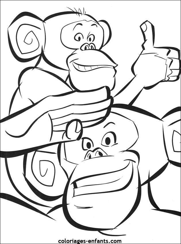 coloriage de singe à imprimer sur coloriages enfants com