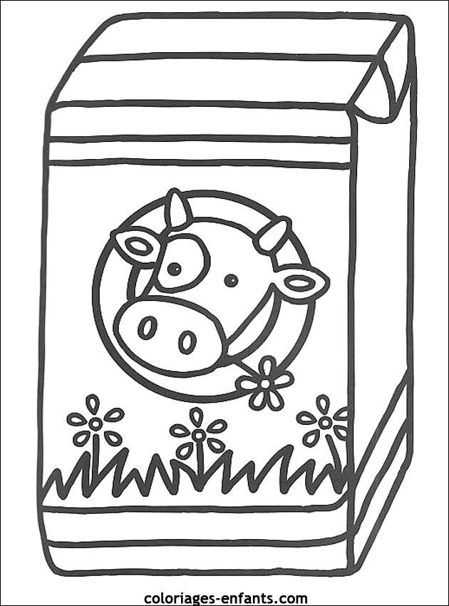 Coloriage de vaches sur coloriages enfants - Vache dessin facile ...