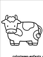 Coloriages et jeux de vaches - Coloriage petit veau ...