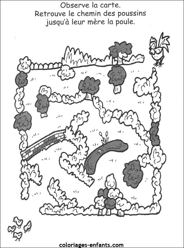 pin coloriages jeux poussins page 12 sur 13