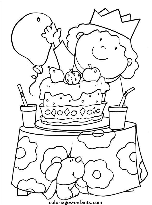 Coloriage d 39 anniversaire imprimer sur coloriages - Dessin de bon anniversaire ...