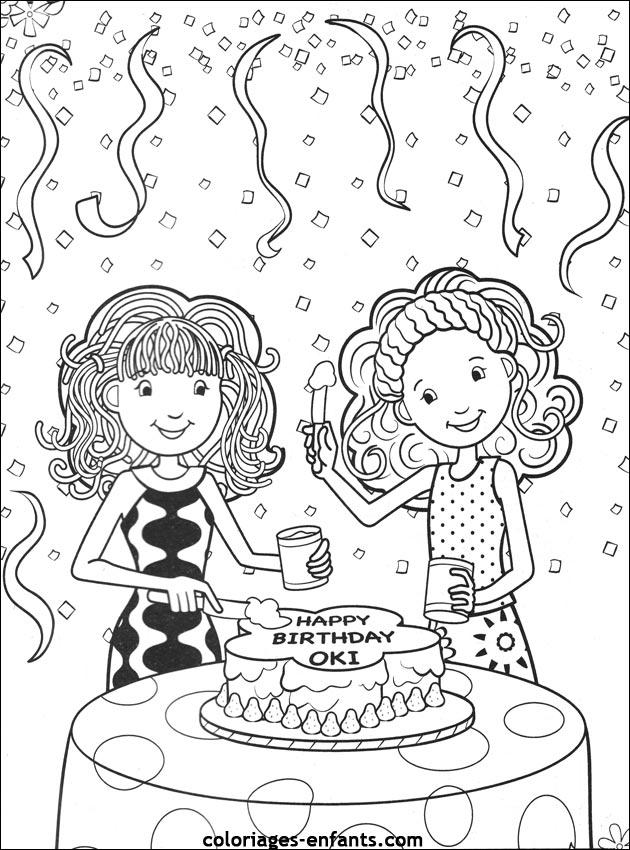 coloriage danniversaire de coloriages enfantscom - Coloriage Anniversaire