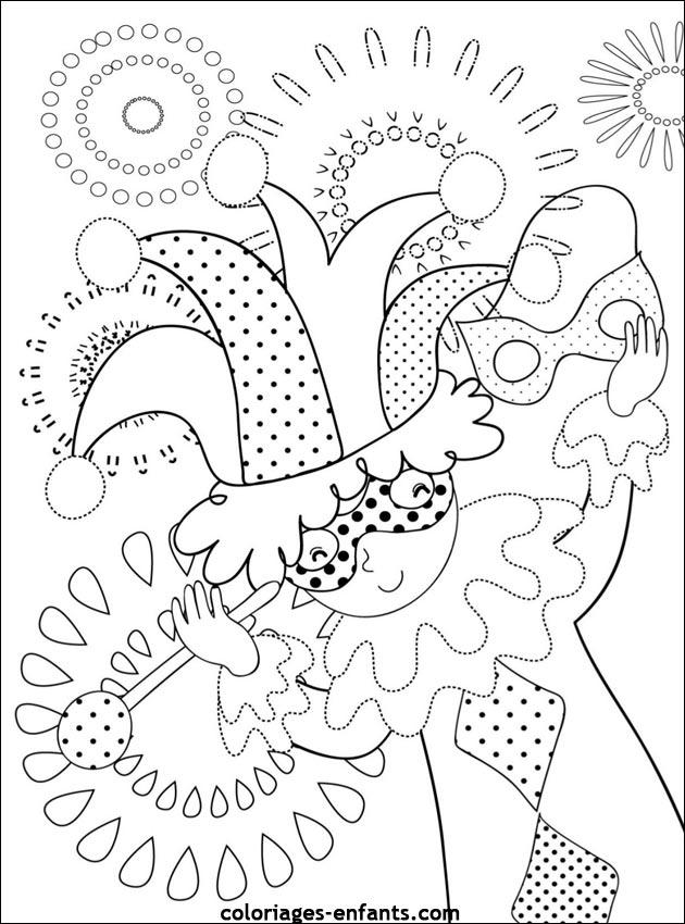 Coloriage de carnaval imprimer sur coloriages - Dessins carnaval ...