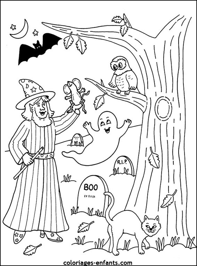 coloriages-halloween-10.jpg (630×850)  - Coloriages / Arts primaire ...