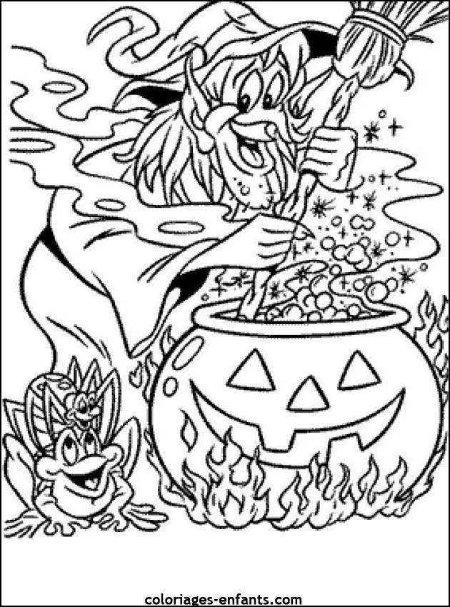 Coloriage d 39 halloween imprimer sur coloriages - Dessin d hallowen ...