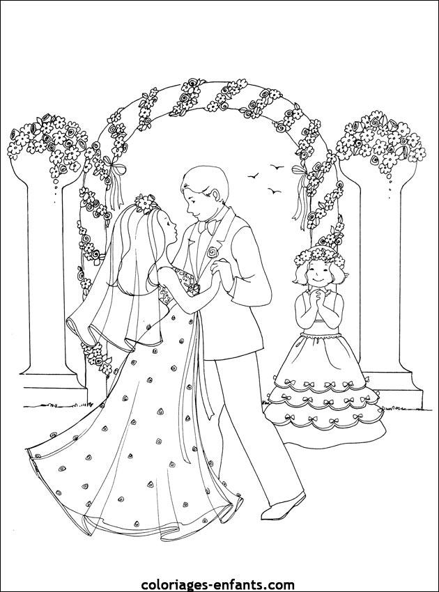 Coloriage De Mariage A Imprimer Sur Coloriages Enfants Com
