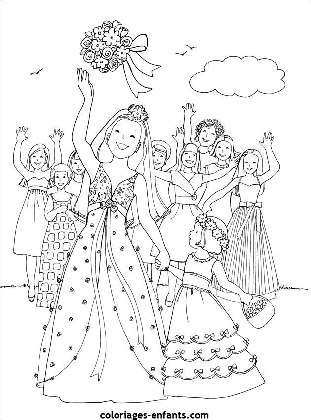 coloriage de mariage