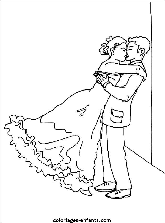 Dessin de mariage - Coloriez com images coloriages ...