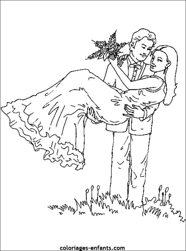 Dessin mari - Coloriage mariage ...