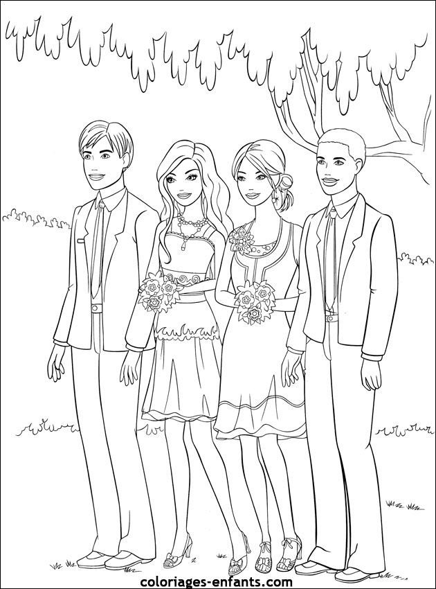 coloriages mariage 3