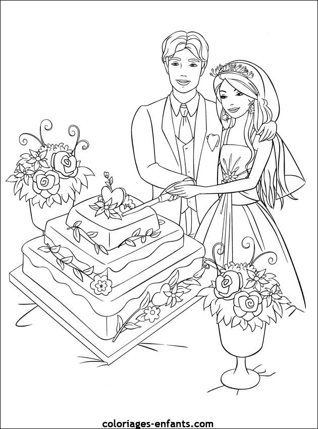 Coloriage de mariage imprimer sur coloriages - Coloriage de om ...
