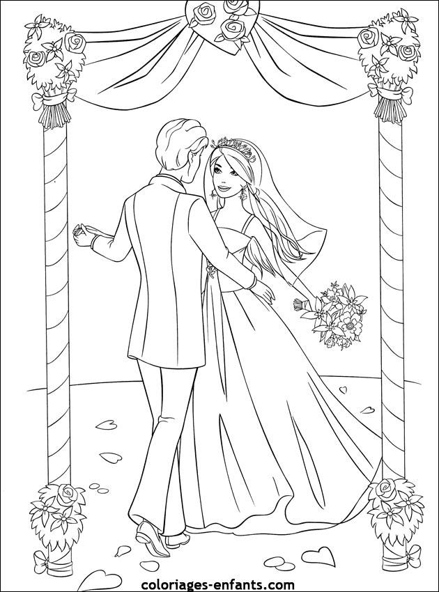 Dessin mariage - Enfants coloriage ...