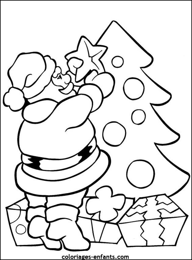 Fabuleux Coloriage de Noël à imprimer sur coloriages-enfants.com SE08