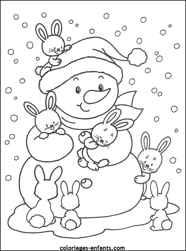 imprime ce coloriage de nol - Coloriage Noel