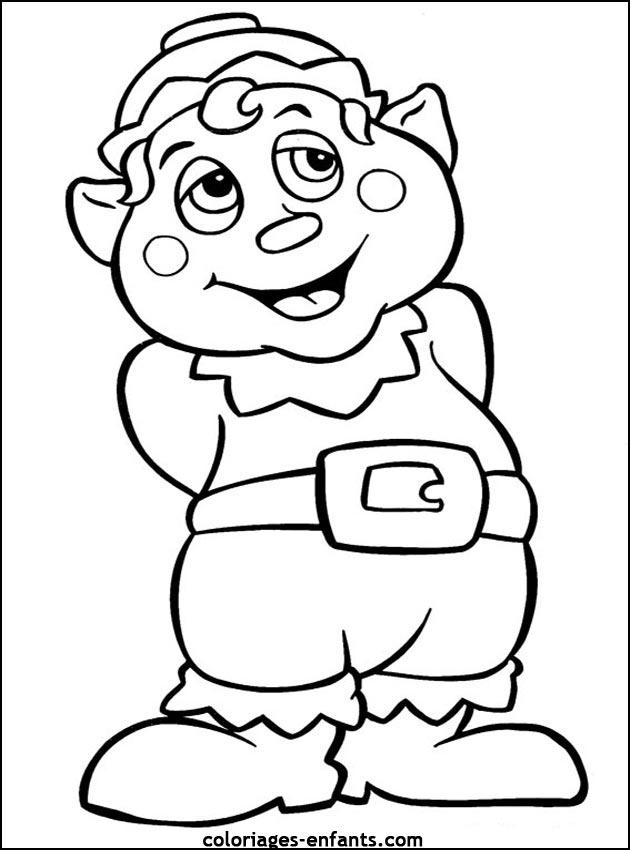 Perenoel bing images - Coloriage enfant noel ...