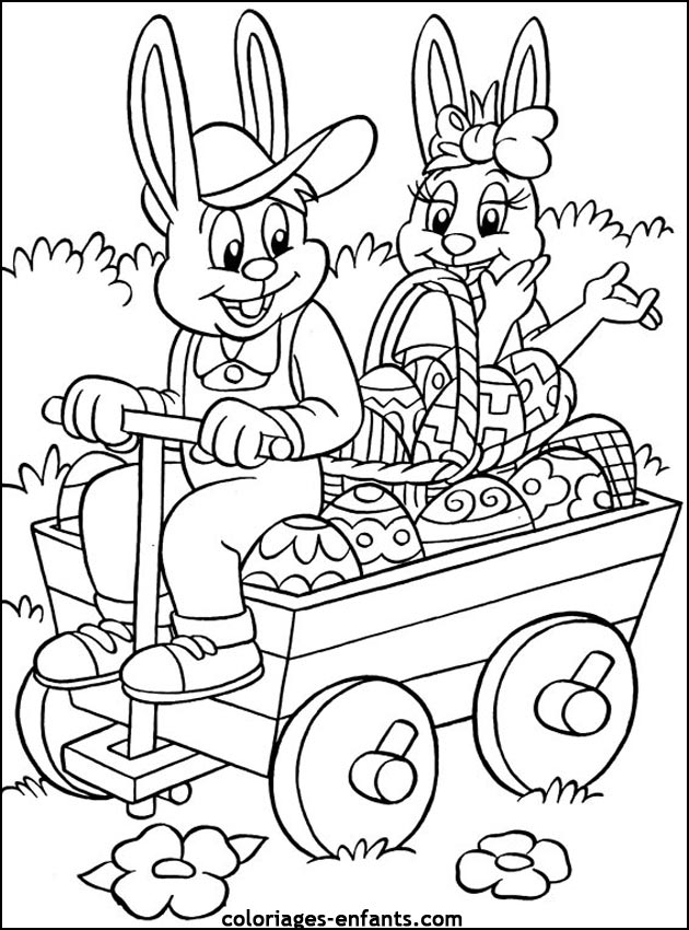 coloriage de pques