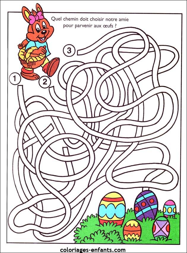 Jeux de paques - Jeux de coloriage de paques ...
