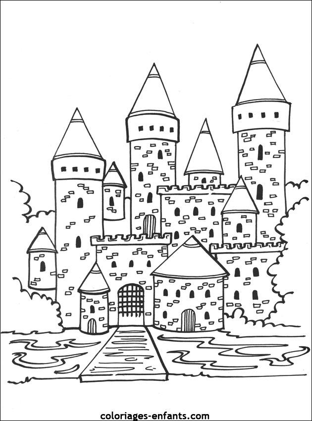 Un Chateau Fort A Colorier