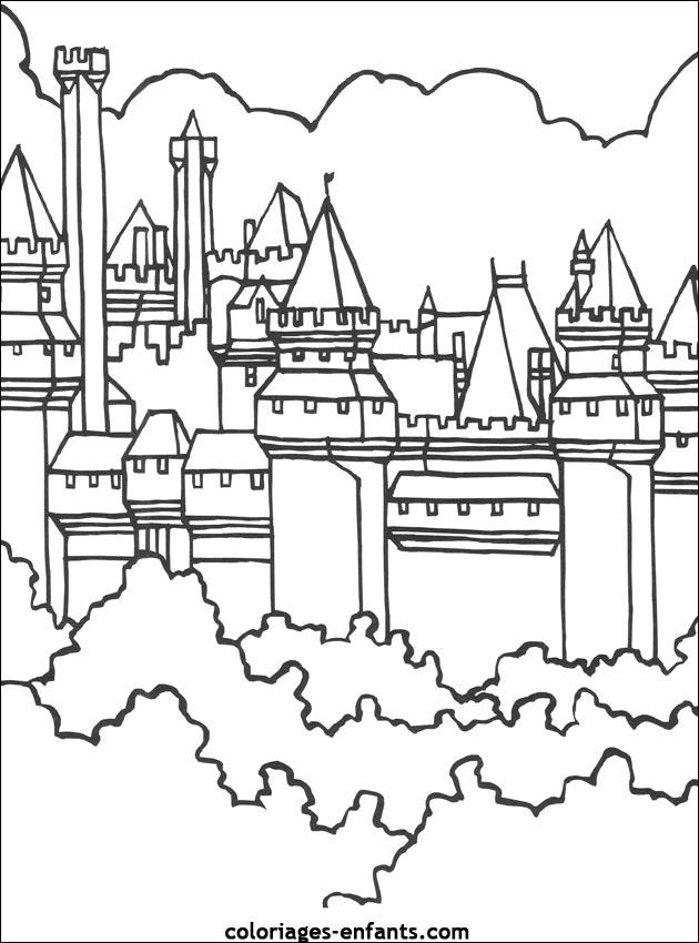 Coloriage Chateau De Bowser.Coloriage Chateau Hante En Ligne Gratuit A Imprimer