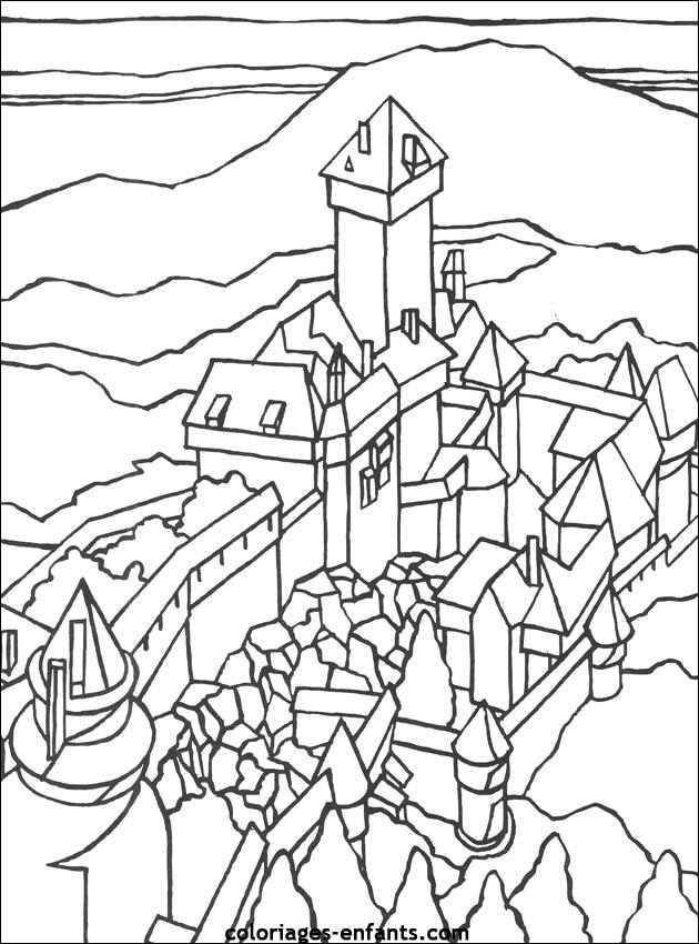 Le haut koenigsbourg - Chateau coloriage ...