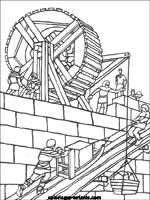 Coloriages et jeux de chateaux forts - Coloriage chateau chevalier ...
