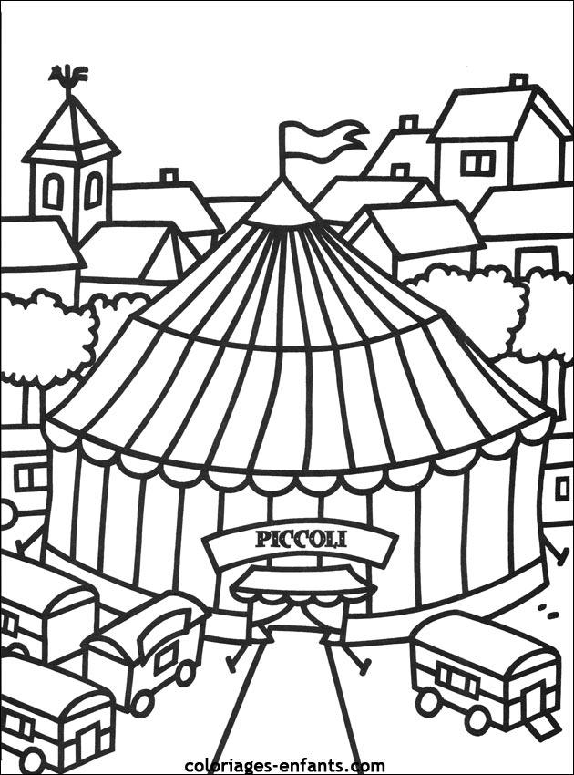 Index of rubrique lieux images coloriages cirque - Coloriage de cirque ...