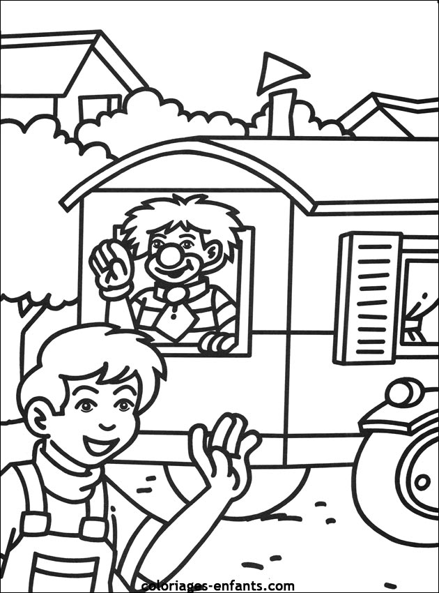 Les Coloriages Du Cirque à Imprimer Sur Coloriages Enfantscom