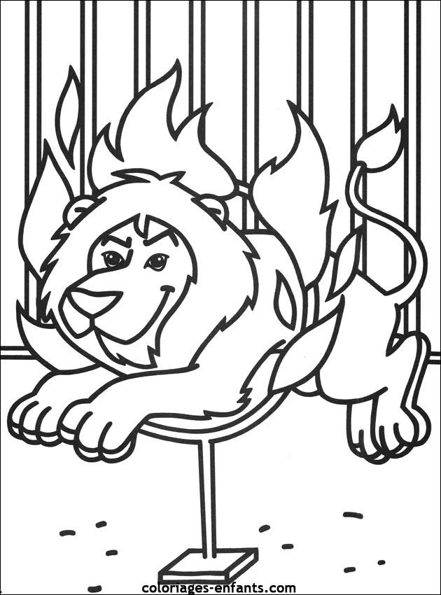 Tigre cirque dessin couleur - Image dessin tigre ...