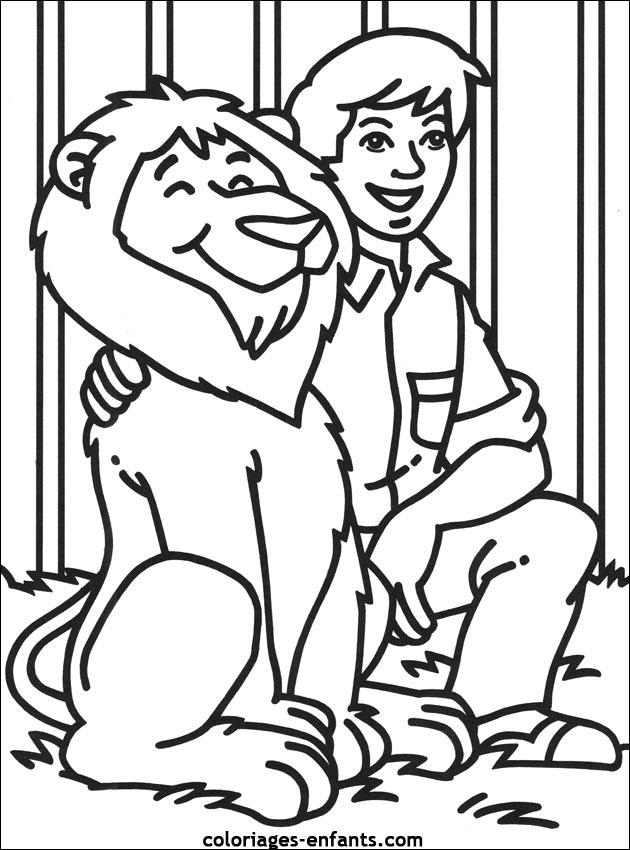 Tigre cirque dessin couleur - Coloriage de cirque ...