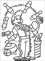 Jeux et coloriages du cirque - Image jongleur cirque ...
