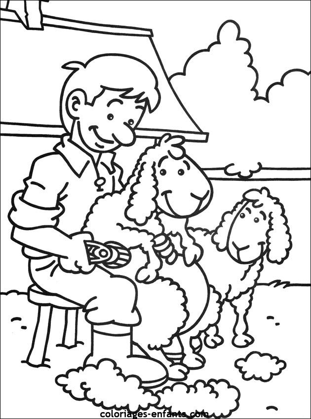 Les coloriages de la ferme imprimer - Dessin de ferme ...
